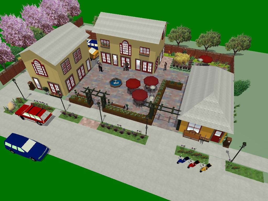 Rendering showing view of proposed redevelopment of 815 S. 15th Street from above.